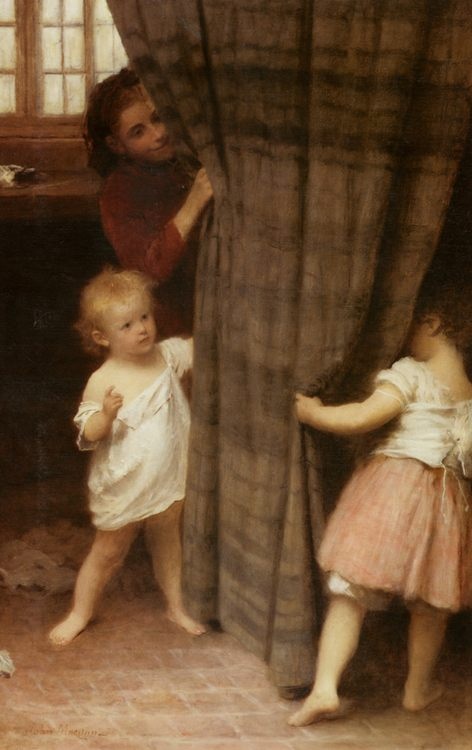 Hide and Seek :: John Morgan - Children's portrait in art and painting ôîòî