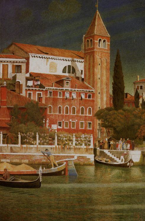 The Tower of San Vitale :: Joseph Edward Southall - Italy ôîòî