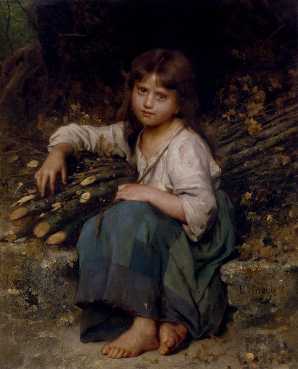 The woodcutter's daughter :: Leon Bazile Perrault  - Portraits of young girls in art and painting фото