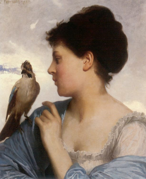 The Bird Charmer :: Leon Bazile Perrault - 7 female portraits ( the end of 19 centuries ) in art and painting фото