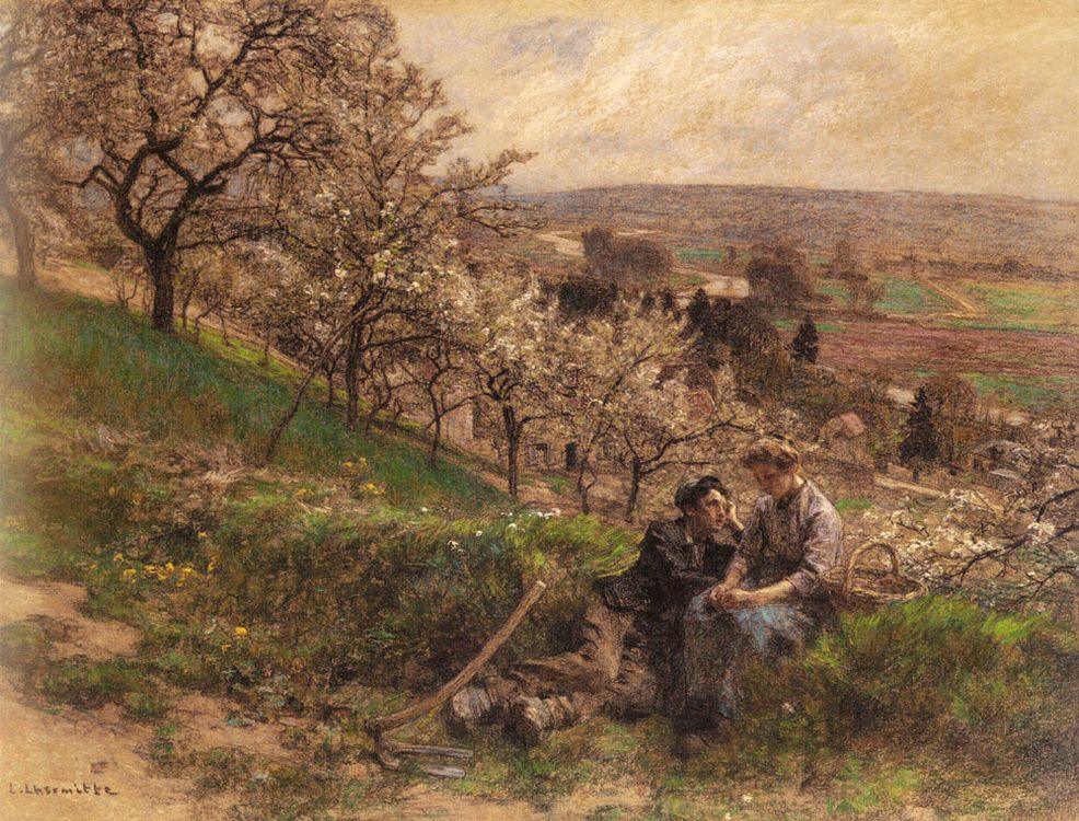 April :: Leon-Augustin L'hermitte - Village life ôîòî