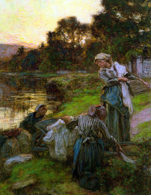 Evening washers :: Leon-Augustin L'hermitte - Village life ôîòî