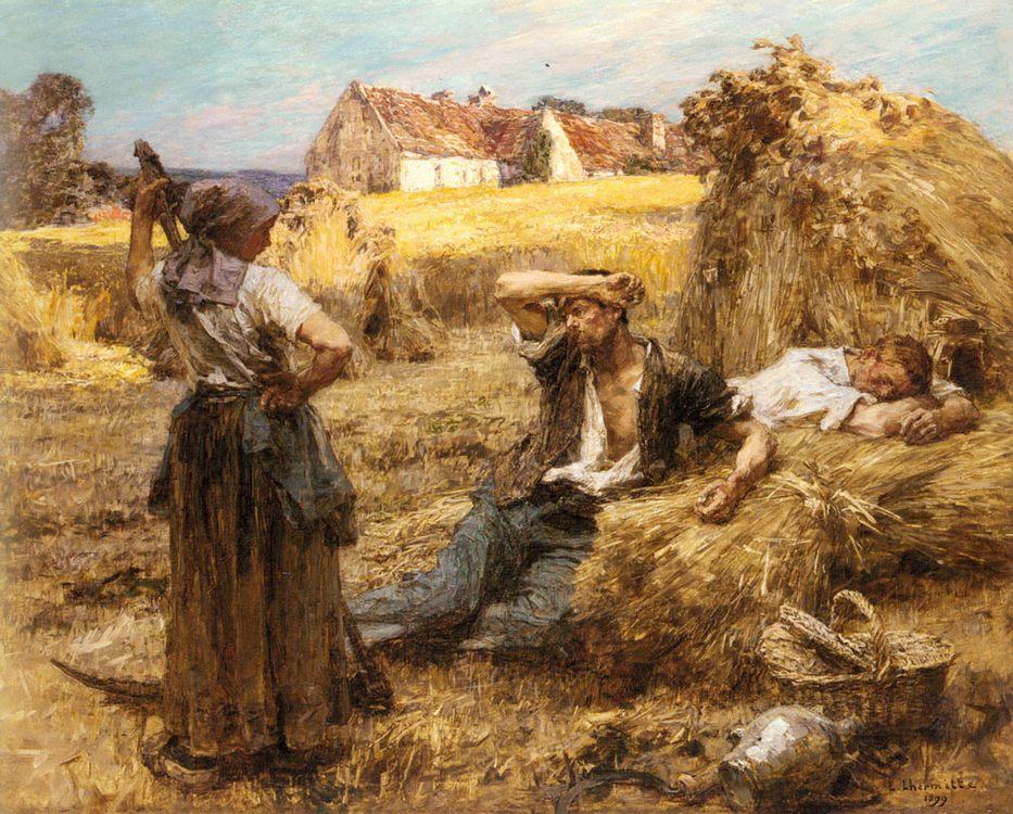 The Reaper's Clock :: Leon-Augustin L'hermitte  - Village life ôîòî