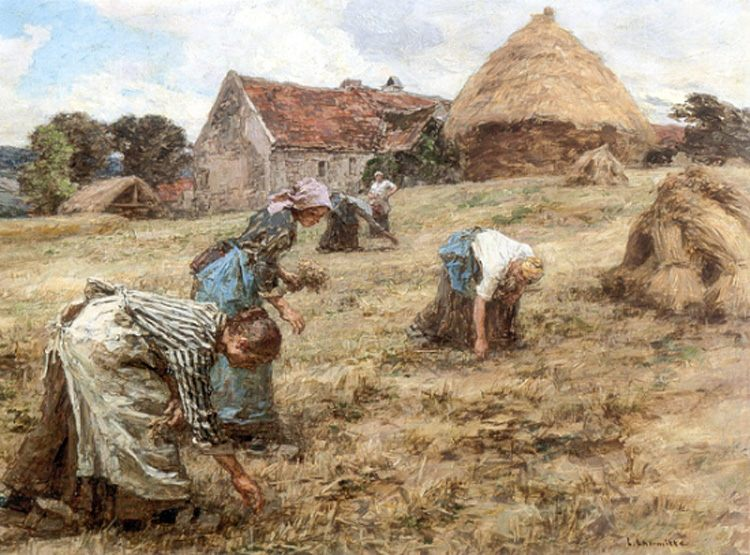 The Gleaners :: Leon-Augustin L'hermitte  - village life фото