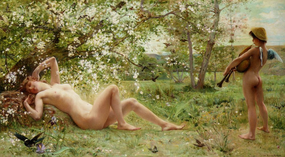 Springtime Awakening :: Luc-Olivier Merson - nu art in mythology painting ôîòî