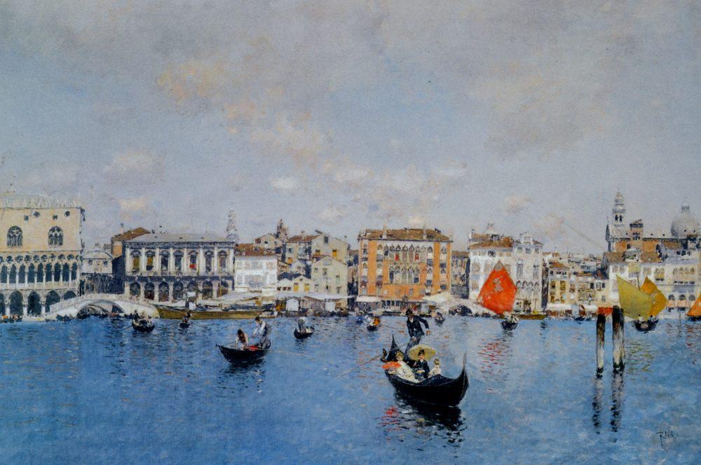 The Riva Degli Schiavoni from the Bacino Di San Marco :: Martin Rico y Ortega - Venice ôîòî