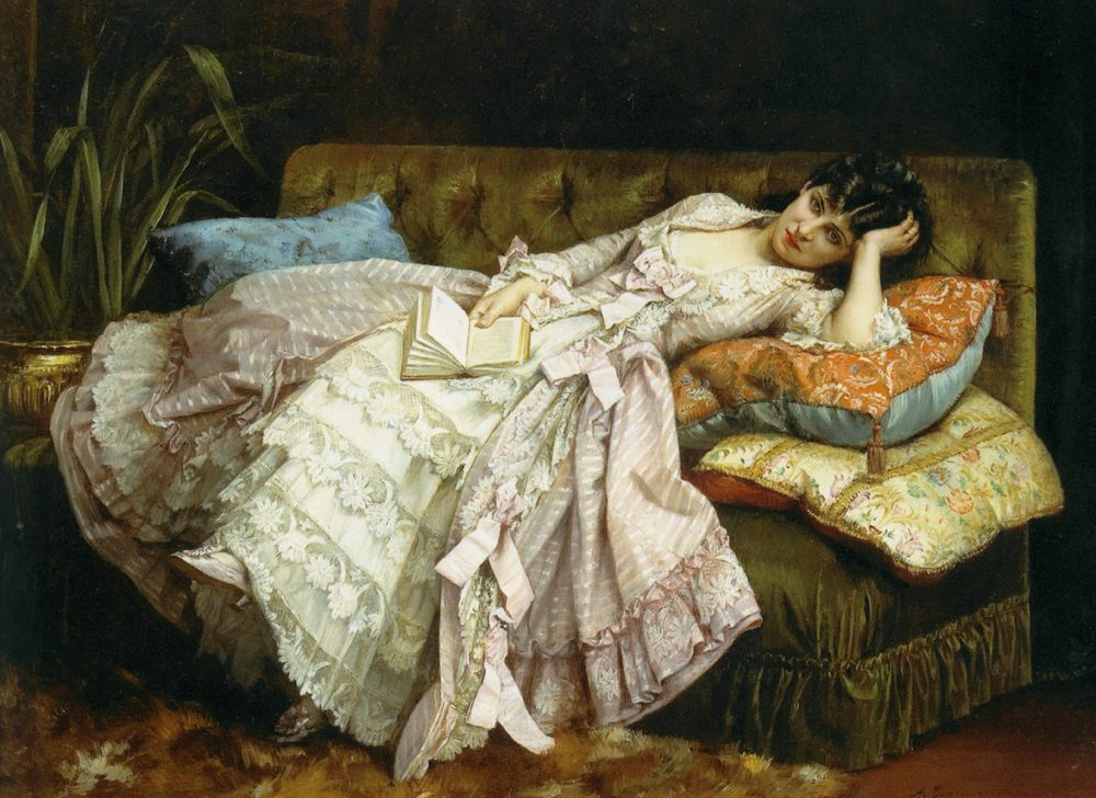 Dolce far niente :: Auguste Toulmouche - 7 female portraits ( the end of 19 centuries ) in art and painting фото