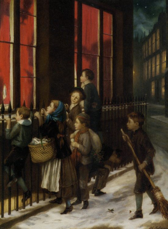 Little Spies :: Augustus Edwin Mulready - Children's portrait in art and painting фото