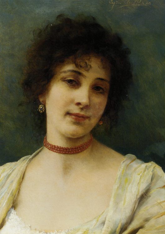 Elegant Lady :: Eugene de Blaas - 7 female portraits ( the end of 19 centuries ) in art and painting фото