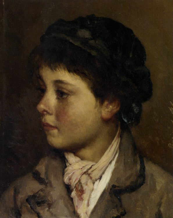 Portrait of a young boy :: Eugene de Blaas - Portraits of young boys ôîòî