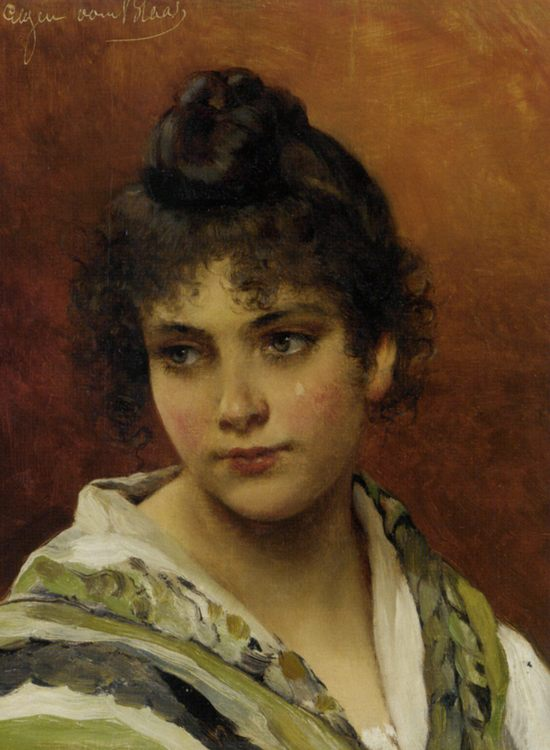 Young Beauty :: Eugene de Blaas - Young beauties portraits in art and painting фото