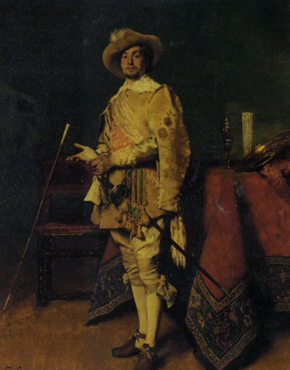 Dashiing Cavalier :: Ferdinand Roybet - History painting фото