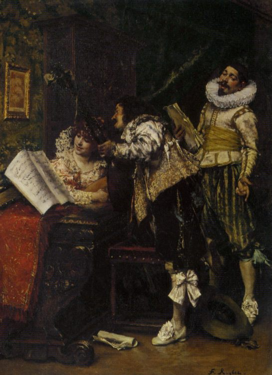 Recital  :: Ferdinand Roybet - Romantic scenes in art and painting ôîòî