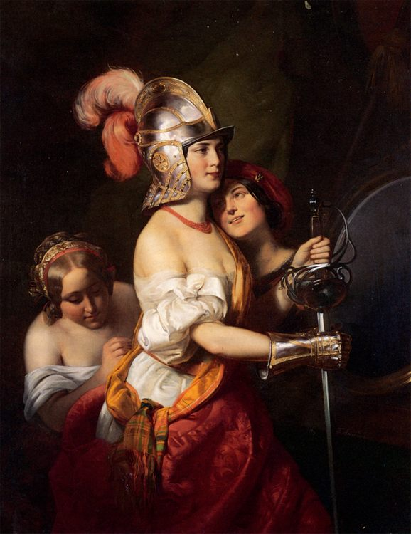 The Armed Maiden :: Friedrich von Amerling - 6 woman's portraits hall ( The middle of 19 centuries ) in art and painting фото