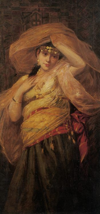 An Arab Dancer :: Giovanni Costa - Arab women ( Harem Life scenes ) in art  and painting фото