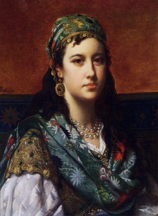 An Oriental Beauty :: Jan Frederik Pieter Portielje - 6 woman's portraits hall ( The middle of 19 centuries ) in art and painting ôîòî
