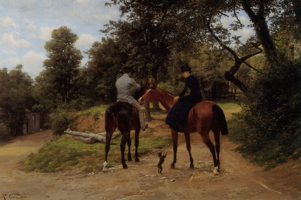 Setting Out :: Jean Richard Goubie - Horses in art фото