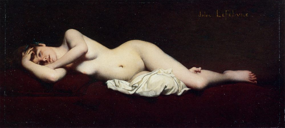 A Reclining Nude :: Jules Joseph Lefebvre - Nu in art and painting фото