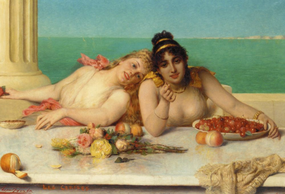 Cirises :: Leon Herbo - Antique beauties in art and painting ôîòî