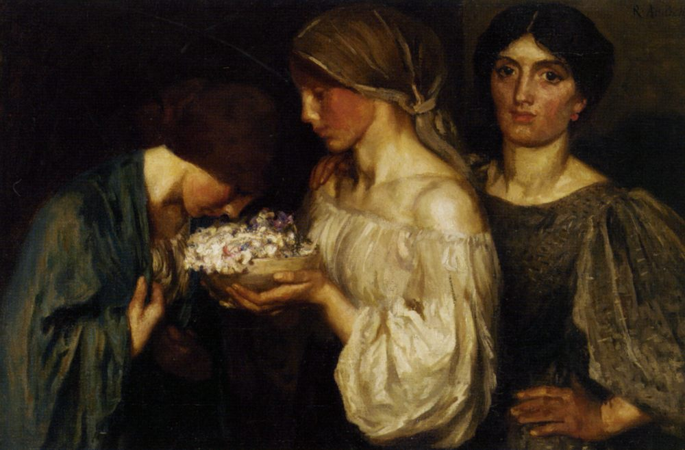 Fragrant Posy :: Robert Anning Bell - 8 female portraits hall ôîòî