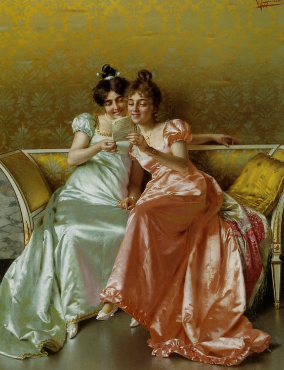 The Letter :: Vittorio Reggianini - Romantic scenes in art and painting фото
