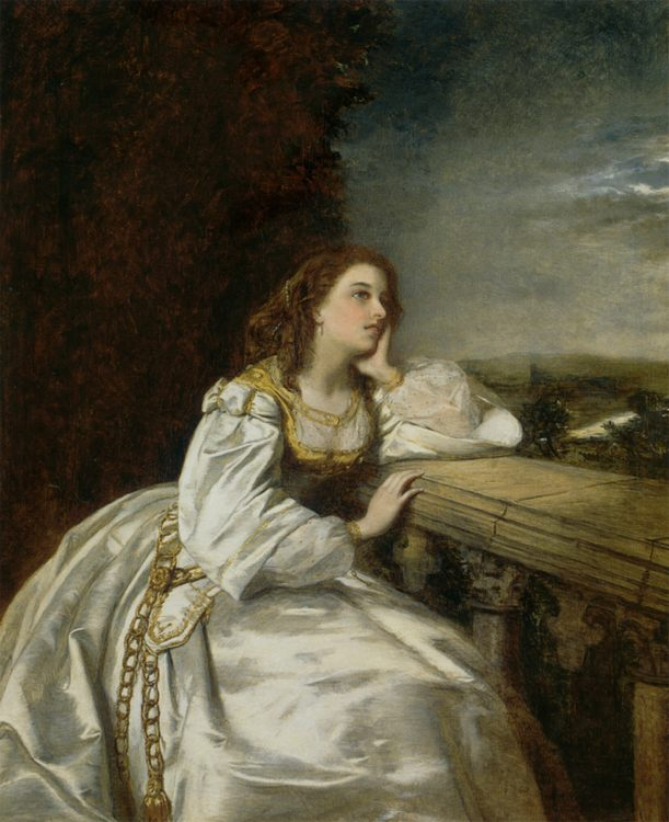 Juliet, 'O That I Were A Glove Upon That Hand' :: William Powell Frith  - Art scenes from literary works фото