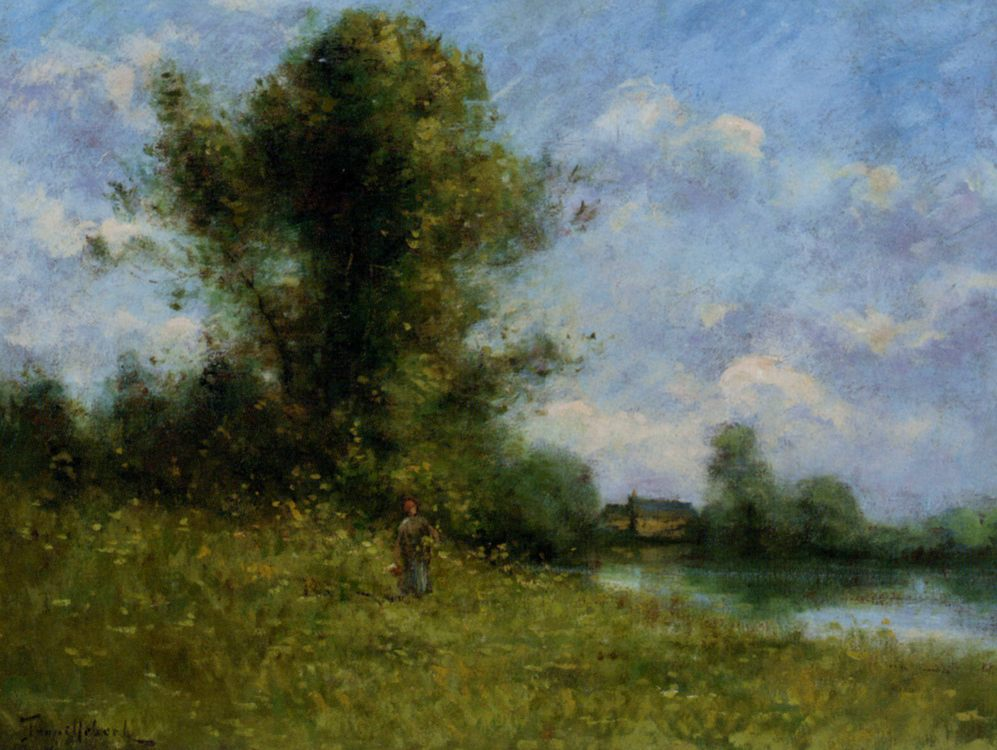 Picking :: Paul Desire Trouillebert - Summer landscapes and gardens ôîòî