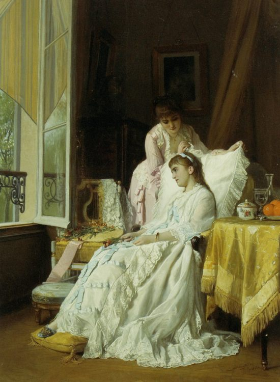 The Convalescent   ::  Charles Baugniet  - Interiors in art and painting фото