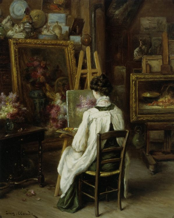 In The Artists Studio :: Eugene Claude - Interiors in art and painting ôîòî