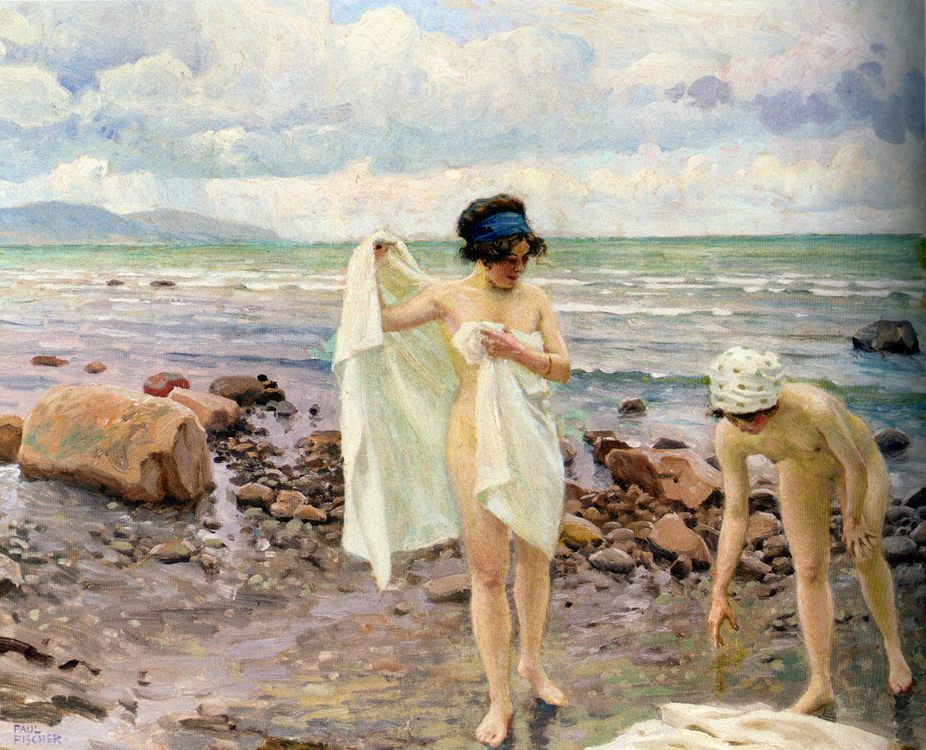 Bathing Women :: Paul Gustave Fischer  - Nu in art and painting фото