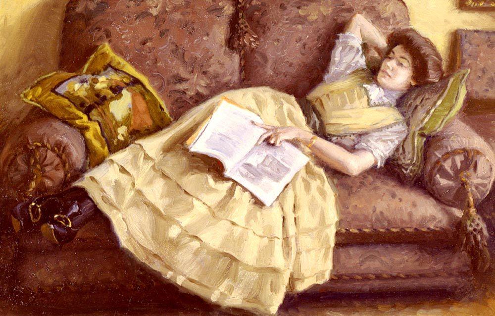 Day Dreams ::  Paul Gustave Fischer - 8 female portraits hall ôîòî
