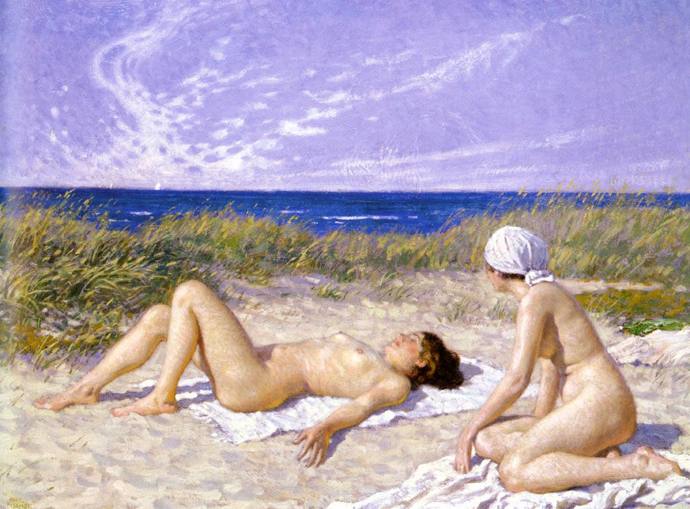 Sunbathing in the Dunes :: Paul Gustave Fischer - Nu in art and painting ôîòî