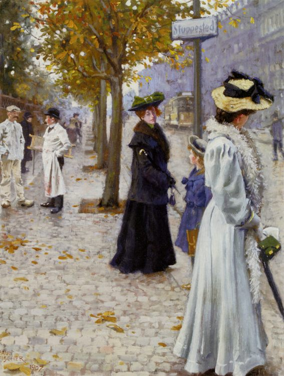 Walk :: Paul Gustave Fischer - Street and market genre scenes фото