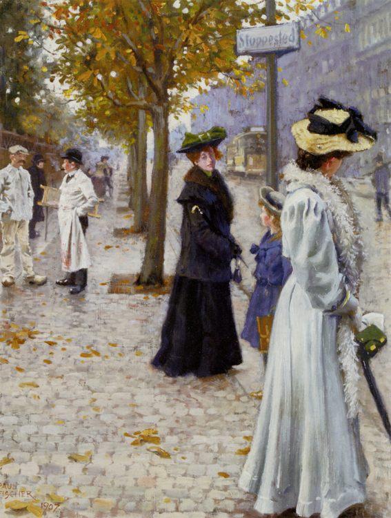 Walk :: Paul Gustave Fischer - Street and market genre scenes ôîòî