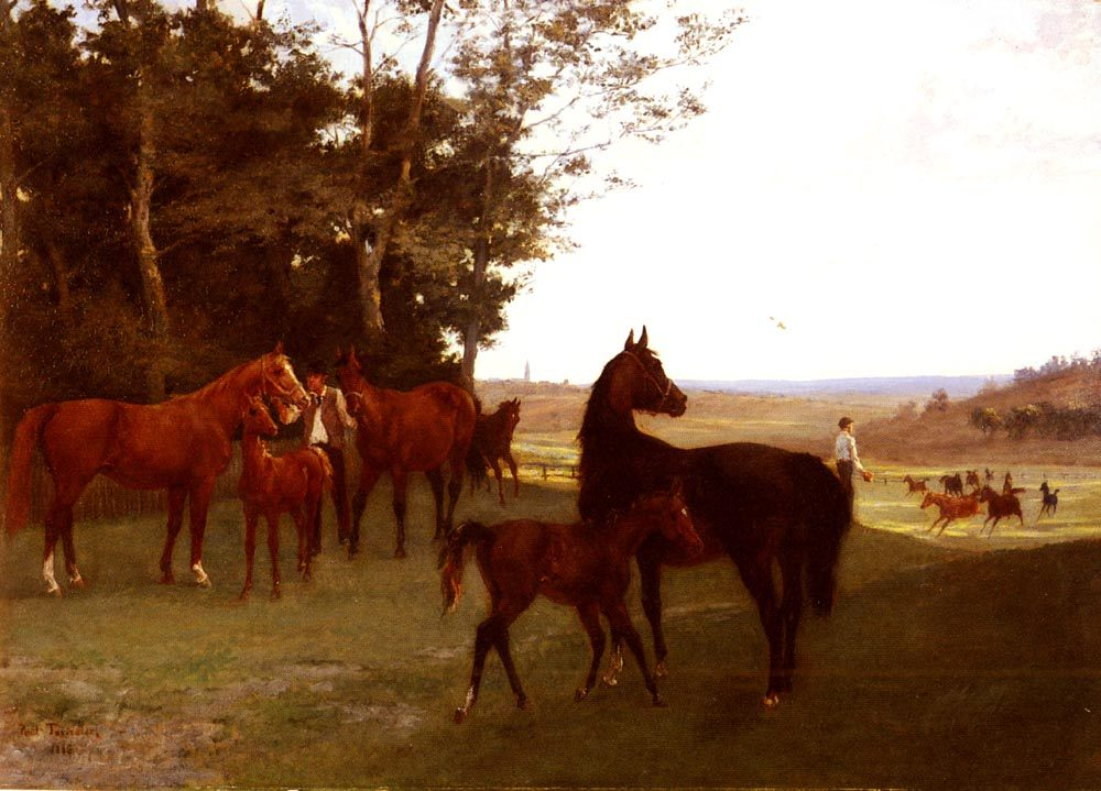 Horses In The Countryside :: Paul Tavernier - Horses in art фото