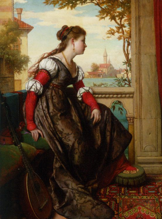 Distant Thoughts :: Pierre Jan van der Ouderaa - Romantic scenes in art and painting фото
