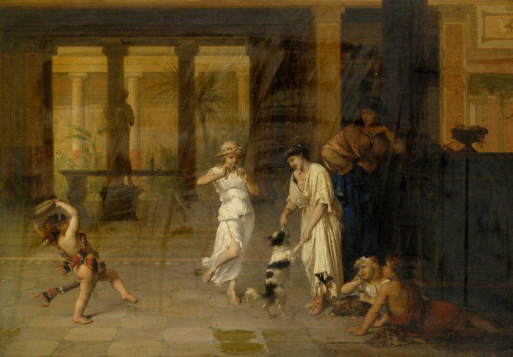 A Classical Concert :: Pierre Oliver Joseph Coomans - Antique world scenes фото
