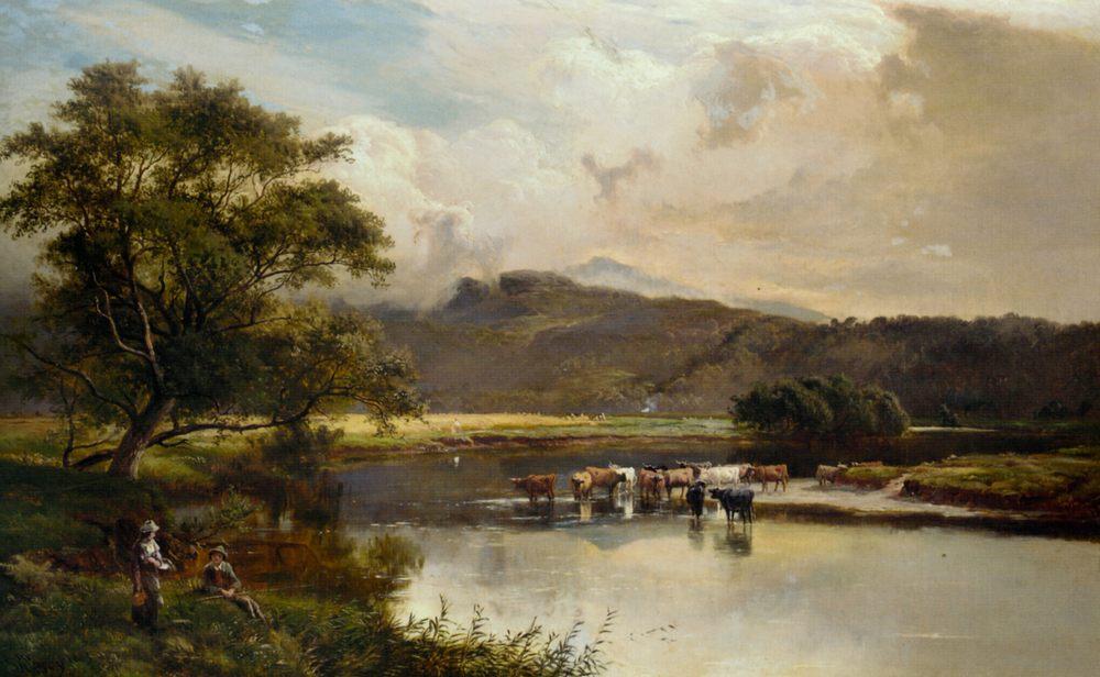 Harvest Time :: Sidney Richard Percy  - Landscapes with cows ôîòî
