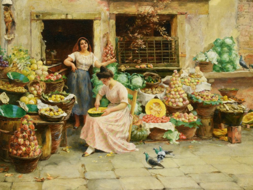 Fruit Sellers :: Stefano Novo - Street and market genre scenes фото
