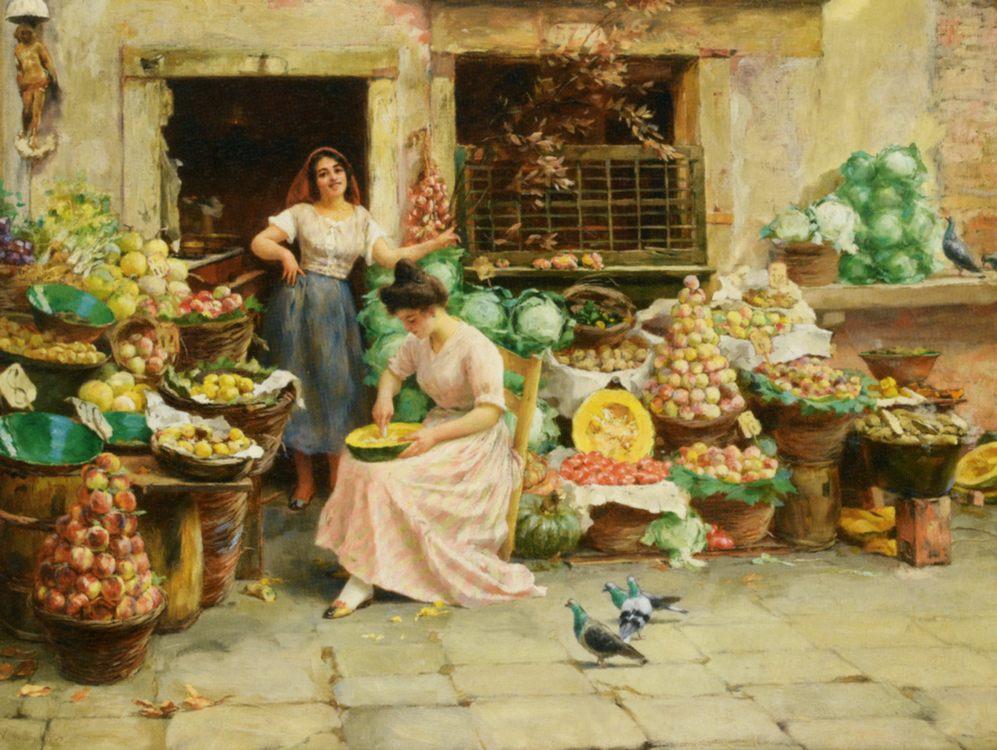 Fruit Sellers :: Stefano Novo - Street and market genre scenes ôîòî