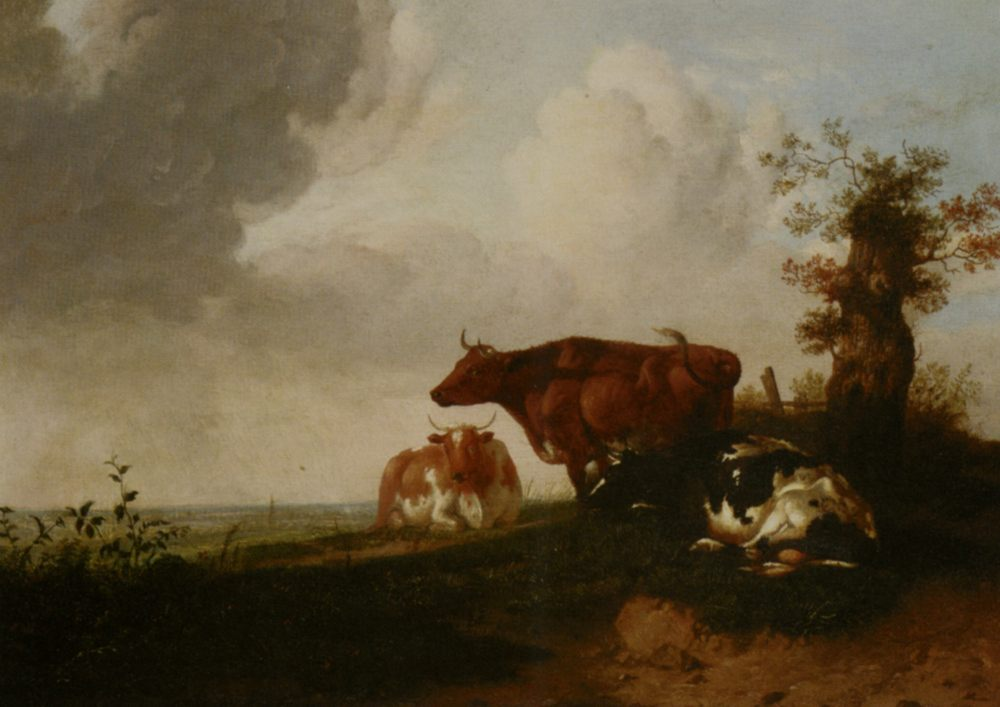 Cattle Resting :: Thomas Sidney Cooper - Animals фото