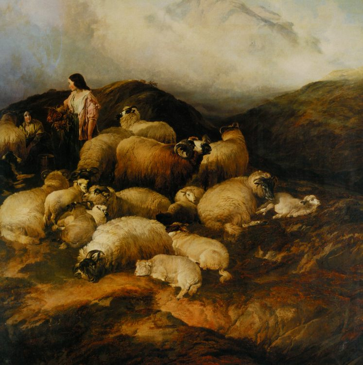 Peasants and Sheep :: Thomas Sidney Cooper - Village life ôîòî