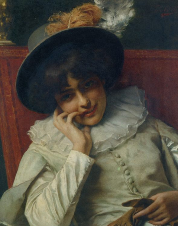 A Pleasant Reflection :: Tito Conti - 7 female portraits ( the end of 19 centuries ) in art and painting ôîòî