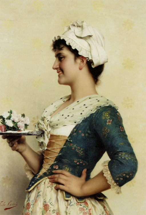 The Love Letter :: Tito Conti - 7 female portraits ( the end of 19 centuries ) in art and painting фото