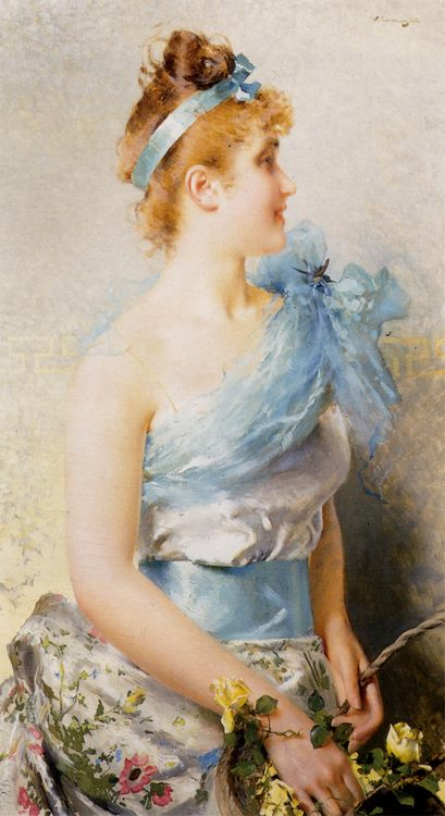 A Spring Beauty :: Vittorio Matteo Corcos - 7 female portraits ( the end of 19 centuries ) in art and painting фото