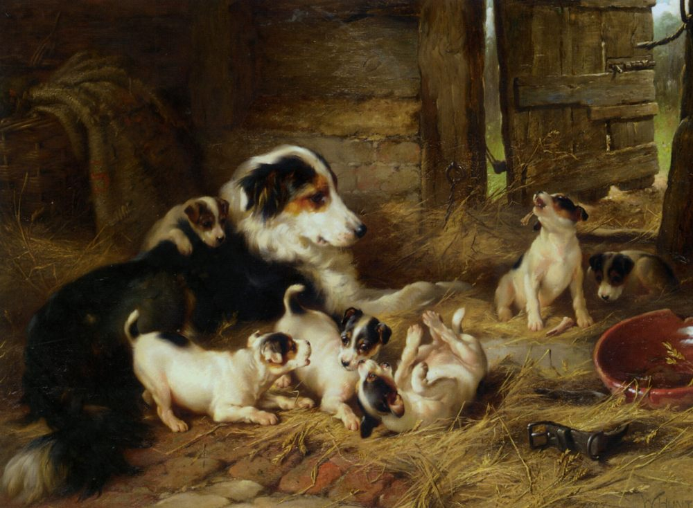 The Foster Mother :: Walter Hunt - Animals фото