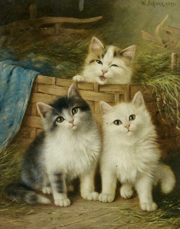 Little Friends :: Wilhelm Schwar - Cats фото