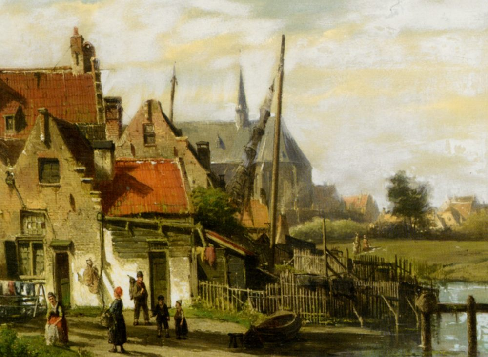Washing Day Amsterdam :: Willem Koekkoek - Holland and Dutch ôîòî