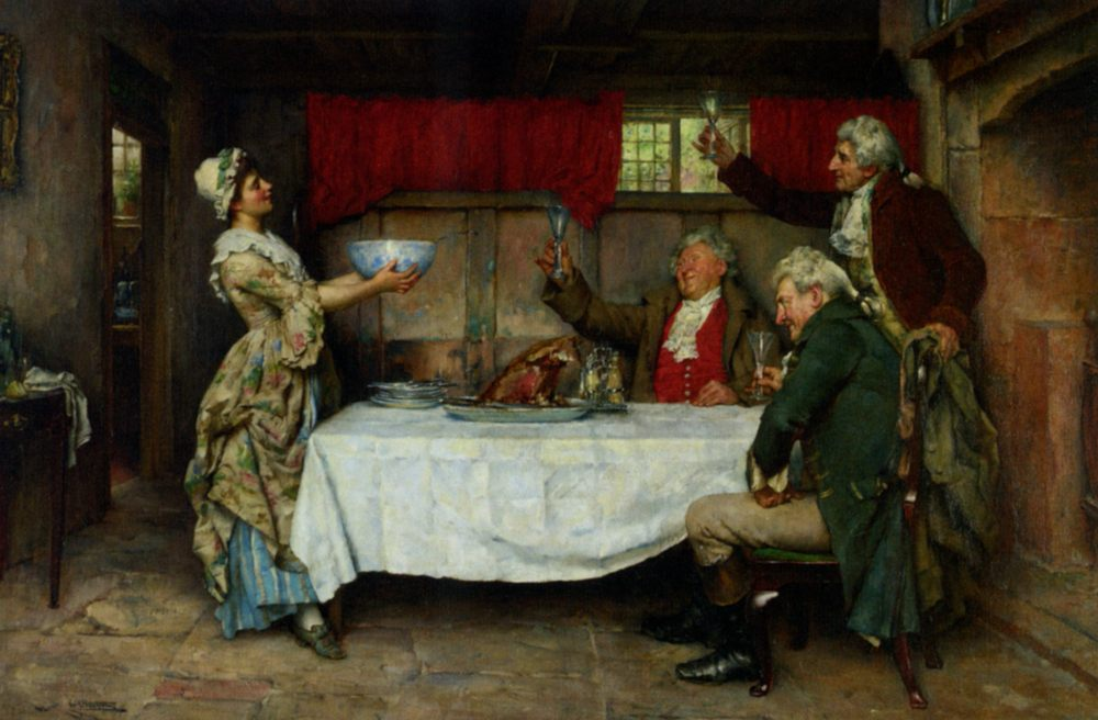 A Good Bowl of Punch :: William A. Breakspeare - Interiors in art and painting ôîòî