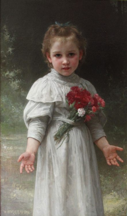 Yvonne :: William Adolphe Bouguereau - Portraits of young girls in art and painting фото